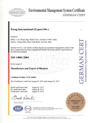 ISO 14001:2004 Certified Company
