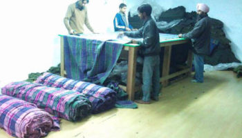 Shaping of the blankets